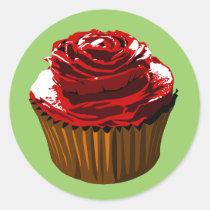 cupcake, dessert, treat, sweet, cake, pastry, bake, bakery, rose, flower, floral pattern cupcake, roses, mist-flower, perennial plant, conoclinium coelestinum, Thorns, spines, and prickles, centaurea imperialis, hybrid (biology), mistflower, genus, eupatorium coelestinum, Rosaceae, billy buttons, cultivar, dahlia pinnata, garden roses, brass buttons, Greek language, cotula coronopifolia, Aeolic Greek, centaurea cyanus, Old Persian language, blue-eyed african daisy, Avestan language, arctotis stoechadifolia, Sogdian language, centa, Sticker with custom graphic design