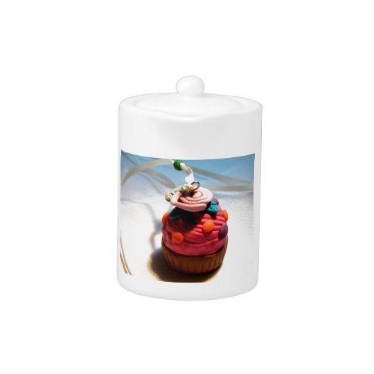 Rose Cupcake Teapot