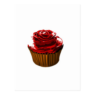 Rose cupcake template products postcard