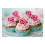 Rose cupcakes greeting cards
