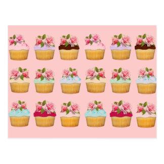 Rose Cupcakes Postcards