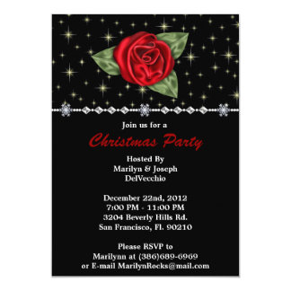 Rose CUTE Christmas Holiday Party Card