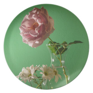 Rose Daisies Plate
