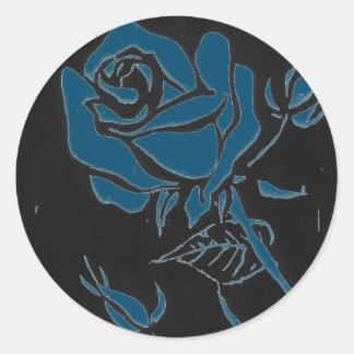 """""""Rose Dark #3"""" Floral Sticker"""