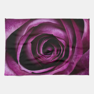 Rose Dark Plum Kitchen Towel