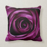 """Rose Dark Plum Throw Pillow<br><div class=""""desc"""">Intense coloured rose petals of a purple plum colour. A really stand out design for lovers of purple. The individual petals are easily seen.Gorgeous teamed with a crisp white.</div>"""
