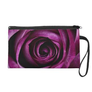 Rose Dark Plum Wristlet