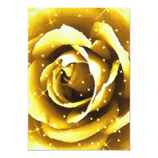 Rose_ de oro invitación 12,7 x 17,8 cm
