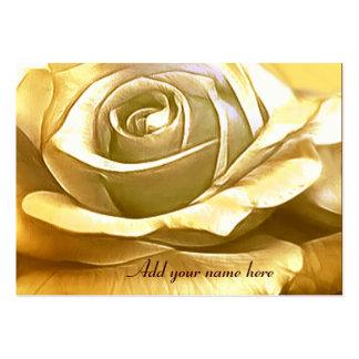 Rose_ de oro tarjetas de visita grandes