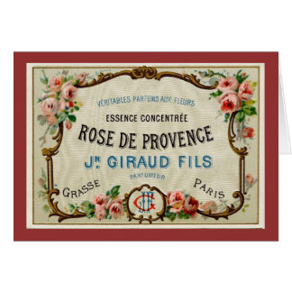 Rose de Provance a French Perfume Card