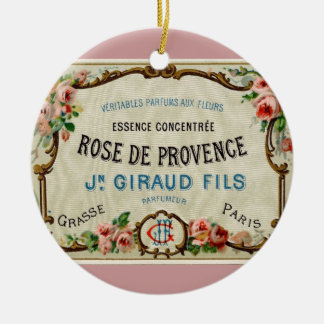 Rose de Provance a French Perfume Ceramic Ornament