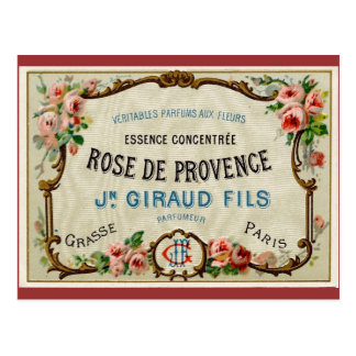 Rose de Provance a French Perfume Postcard