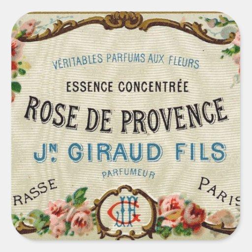 Rose de Provance un perfume francés Pegatina Cuadrada