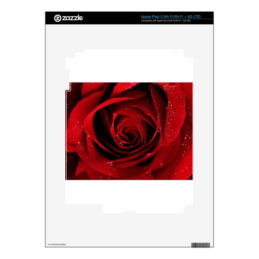 Rose Decal For iPad 3