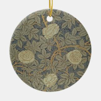 'Rose' design Ceramic Ornament