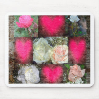 Rose Design Collage Mouse Pad