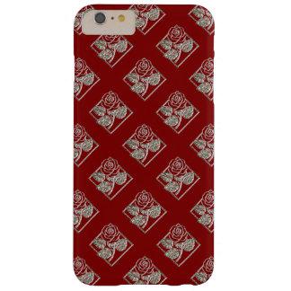 Rose-Diamonds-02-Red Silver-iPhone 6 Plus Case