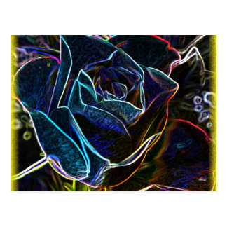 Rose digital art postcard