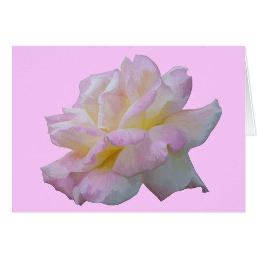 Rose digital drawing card