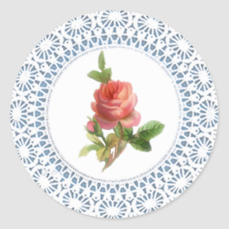 Rose Doily Sticker