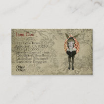 Rose Donkey White Vintage Business Cards
