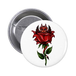 Rose Dragon 2 Inch Round Button