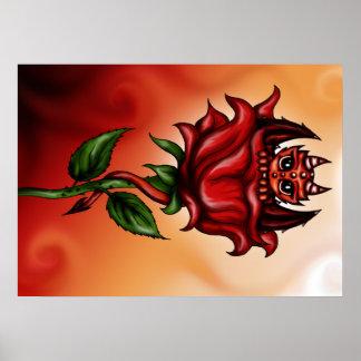 Rose Dragon Poster