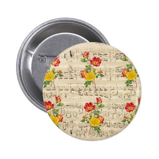 Rose Dream Pattern Pinback Button