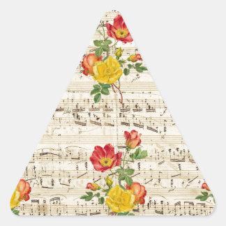 Rose Dream Pattern Triangle Sticker
