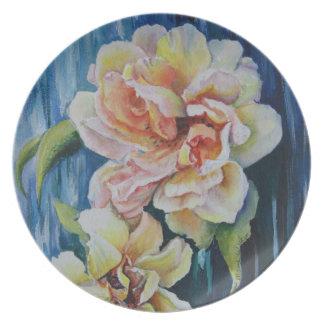 Rose Duo Melamine Plates