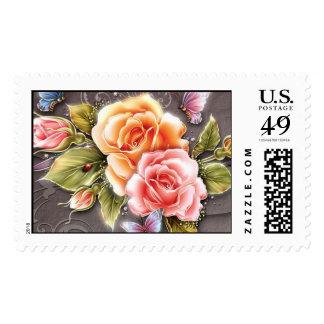 Rose Elegance - Postage Stamp