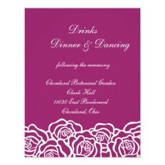 Rose Elegant Wedding Reception Card Personalized Invites