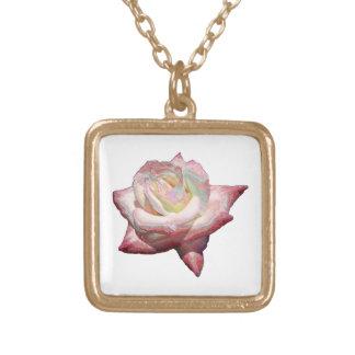 Rose (Enameled Effect) Necklace