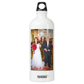Rose & Enrique's Wedding Aluminum Water Bottle