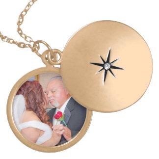 Rose & Enrique's Wedding Locket Necklace