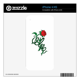 ROSE ENTWINED DECALS FOR iPhone 4