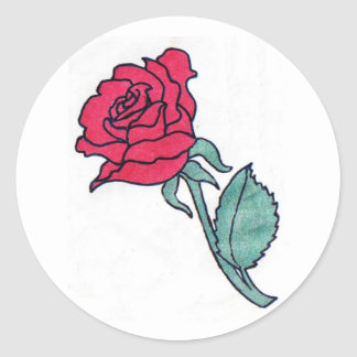 Rose Envelope Seals Classic Round Sticker