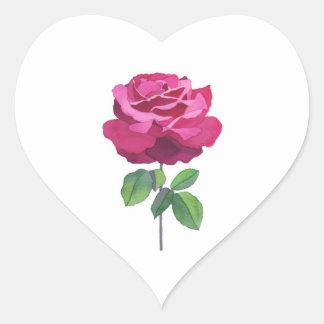 Rose essence heart stickers