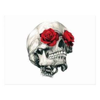 Rose Eye Skull Postcard