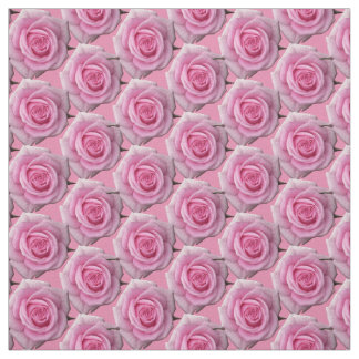 Rose Fabric Pink Rose Fabric Cotton or Poly Custom