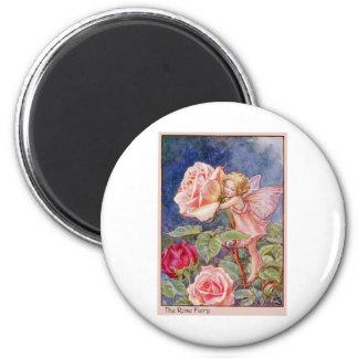 Rose Fairy 2 Inch Round Magnet