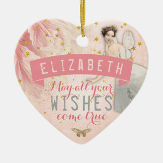 Rose Fairy Ballet | Wishes Ceramic Ornament