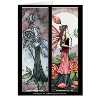 Rose Fairy Bookmarks Card by Molly Harrison