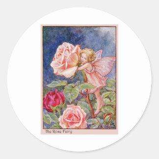 Rose Fairy Classic Round Sticker