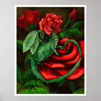 Rose Fairy Dragon Poster