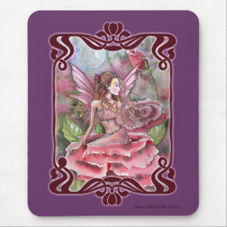 Rose Fairy Fancy Mousepad by Molly Harrison