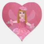 Rose Fairy Heart Sticker