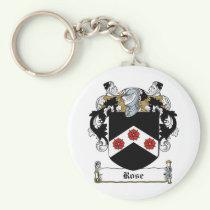 Rose Family Crest Keychain