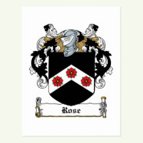 Rose Family Crest Postcard