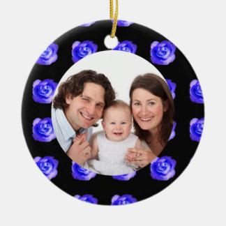 Rose/ Family Photo Christmas Ornament